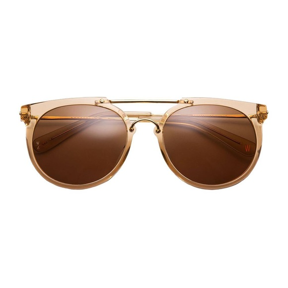 7f6c7150d7 Wonderland Stateline Sunglasses- clear beach glass